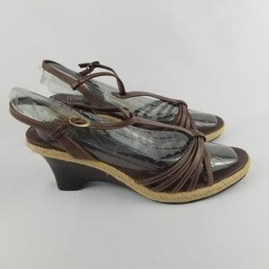 🌹Nickels Soft Leather Wedge Sandal Size 10 NWOT